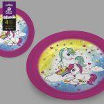 8424345104452_ml 4 assiettes en papier Unicorn 23cm